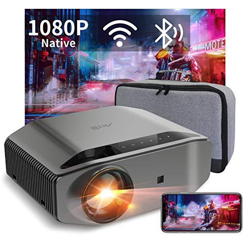 """Proiettore, Videoproiettore WiFi Bluetooth Artlii Energen 2 - 8000 Lumen Proiettore Full HD 1080P Nativo, Supporta 4K, 300"""" Home Cinema, Compatibile con Smartphone/TV Stick/Chromecast/PS4/5"""