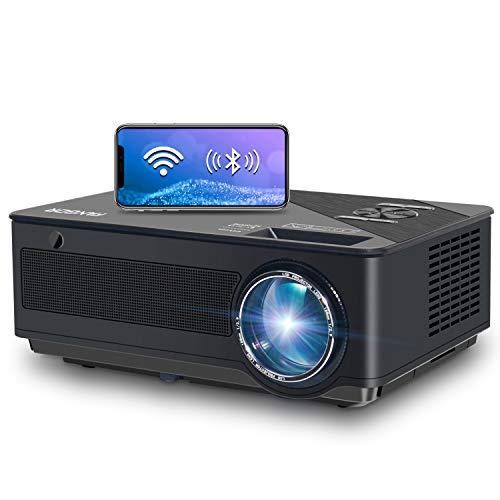 Proiettore WiFi FANGOR Videoproiettore Full HD Proiettore 1080P Nativo 7500 lumen Bluetooth Proiettore per home theater , compatibile con TV Stick, HDMI, VGA, USB, Smartphone