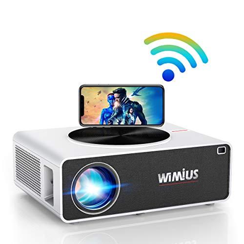 """Proiettore WiFi,WiMiUS 7200 Lumen Videoproiettore Full HD Nativa 1920x1080P LED Proiettore Supporto 4K Schermo 300"""" per Home Cinema Theater Compatibile con Smartphone,Fire Stick,TV Stick, PC,XBox,PS4"""