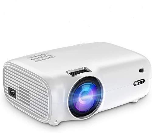 """ProiettoreFull HD, QZT Videoproiettore Portatile 4500 Lumen,Display da 200""""1080PSupportato, Lampadina da 50000 Ore, con HDMI/USB/VGA/AV/Micro SD, Video Proiettore LED per Android IOS TV Box PC"""