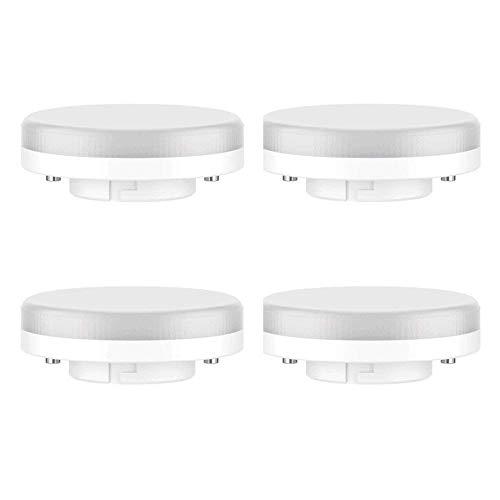 Pursnic GX53 LED Bulb - 7W / 550LM, 50W Ricambio ad incandescenza, Bianco Freddo 6000K, Non dimmerabile, 220-240V, Confezione da 4