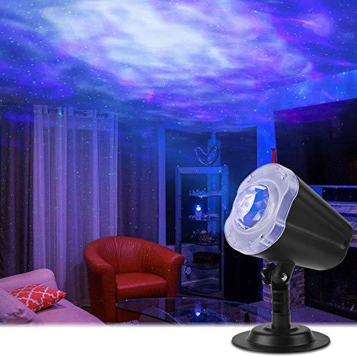 Qomolo Proiettore Luci LED per Bambini, Proiettore Cielo Stellato e Oceano Lampada Proiettore 10 Modalità di Commutazione Arbitraria Luce Notturna, Regalo per Neonati, Bambini