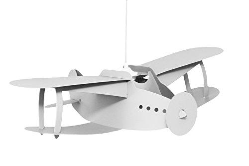 & R M Coudert - Lampada da soffitto a sospensione, ideale per cameretta, a forma di aereo, colore: bianco