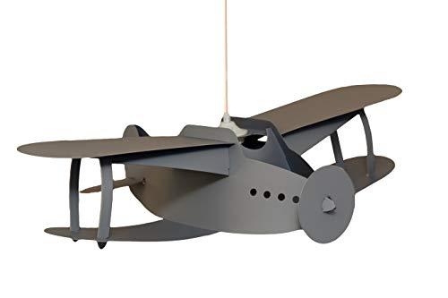 R & M Coudert lampada di soffitto sospensione camera bambini aereo grigio