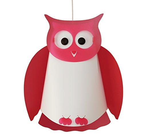 R & M Coudert lampada di soffitto sospensione camera bambino gufo rosa