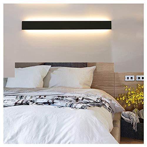Ralbay Lampade da Parete 30W Nero Lampada Bagno Specchio da Muro Parete, Led Bagno Mobile, montaggio a parete, Specchio Luce, 3900LM, 83CM
