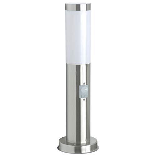 Ranex RX1010-45S Palo con Rilevatore di Movimento in Acciaio Inossidabile Spazzolato e Plastica, n/a, spina/presa, acciaio;stainless steel