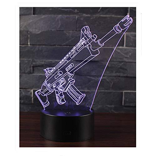 Ray-Velocity 3D Lampada da Tavolo Luce Notturna 7 Colori Cambiamento Pulsante Touch LED Illuminazione Decorativa lampada da tavolo per Compleanno e San