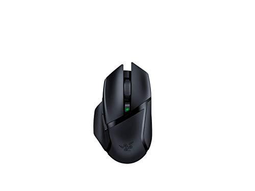 Razer Basilisk X Hyperspeed Mouse da Gaming Wireless con Tecnologia HyperSpeed, Sensore Ottico 5G Razer, Autonomia Lunga della Batteria, 6 Pulsanti Programmabili, Nero