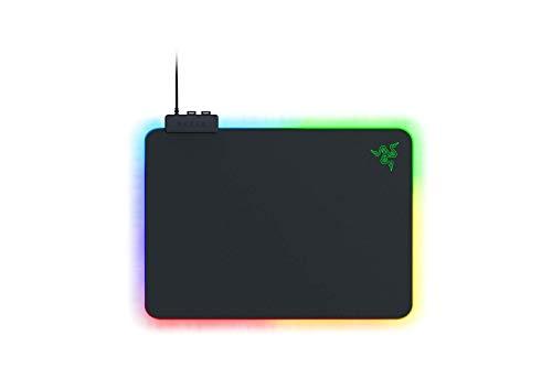 Razer Firefly V2 - Tappetino per mouse da gioco con superficie in microtrama e illuminazione RGB (Illuminazione del bordo a tutto tondo, Ferma-cavo integrato)