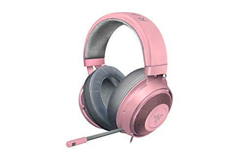 Razer Kraken Gaming Headset, Le Cuffie Cablate per Il Gaming Multipiattaforma per PC, PS4, Xbox One & Switch, Driver da 50 mm, Cavo Audio da 3.5 mm con Controlli su Filo, Rosa