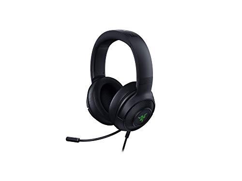 Razer Kraken X USB Gaming Headset, Cuffie Da Gioco Con Audio Surround Digitale 7.1, Microfono Cardiode Pieghevole, Leggere, Nero
