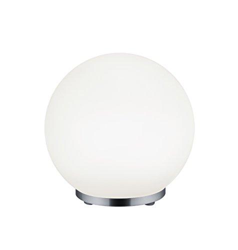 Reality George Lampada da Tavolo, LED, Sfera, Telecomando RGB, Dimmer Integriert, 6 W, Cromo, 19,9 x 19,9 x 19,9 cm