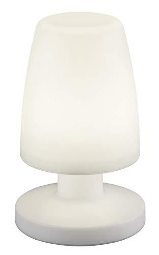 Reality Leuchten Dora - Lampada da tavolo per esterni, in plastica Dora bianco