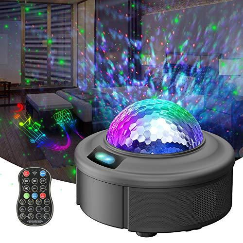 REDPAWZ LED Proiettore Cielo Stellato Lampada , Proiettore a Luce Stellare, Proiettore Stellato Bluetooth, LED Luce Rotante Nebulosa con Timer e Telecomando, per Bambini/Adulti/Regalo/Decorazioni