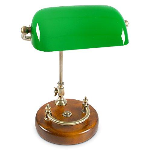 Relaxdays Lampada con Paralume in Vetro E27, 40 W, Verde, 45 x 34 x 25 cm