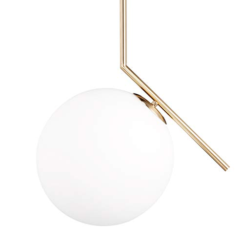 Relaxdays Lampadario GLOBI Lampada a Sospensione da soffitto, Paralume a Sfera E27, 40 W, Bianco, HxLxP: 75x45x30 cm, a risparmio energetico, vetro;metallo