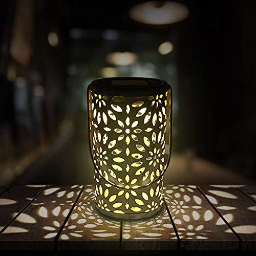 RenFox Lanterna Solare Esterno, LED Luci Solar Laterne Impermeabile IP44 per Esterni Villa Prato marciapiede