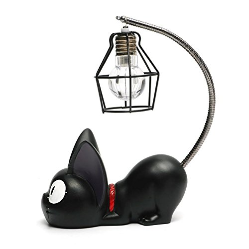 Resina creativa Kiki Cat Animal Night Light, Ornamenti Decorazione per la casa Regalo Piccola lampada da vivaio per gatti Respirazione LED Night Lamp
