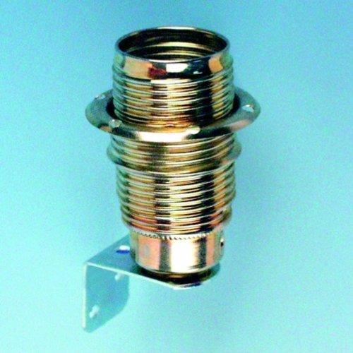 REV Ritter - Portalampada E14 in ottone, con staffa in metallo
