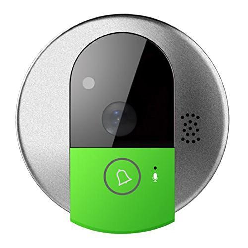 RhinoDoor Spioncino Digitale LKM security – Wifi, Alta definizione 1 Megapixel, Infrarosso, Microfono e altoparlante integrati, Slot MicroSD, Controllabile da smartphone
