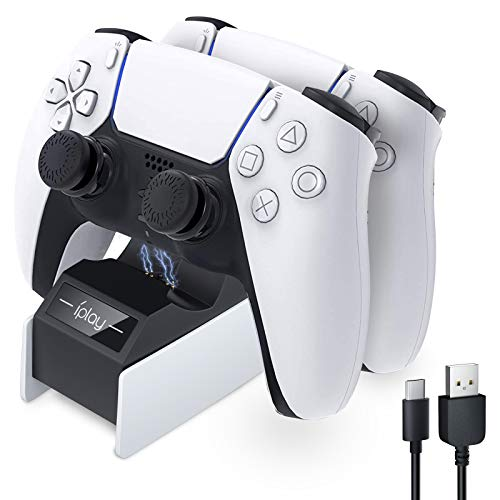 Ricarica Controller PS5,HONEYWHALE Caricatore Joystick PS5 Base di Ricarica Doppia Dualshock Playstation 5