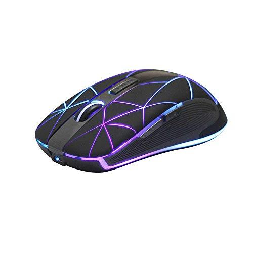 Rii Gaming RM200 Wireless - Mouse da gioco senza fili, 1600 DPI, 5 Pulsanti, Ricaricabile, con luci LED Colorate