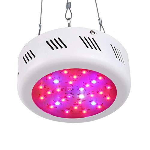 Roleadro LED Grow Light 300W UFO Lampade LED Coltivazione Indoor 6 Banda per Piante Crescere di Serra Grow Box con IR UV Bianco 10000K Luce