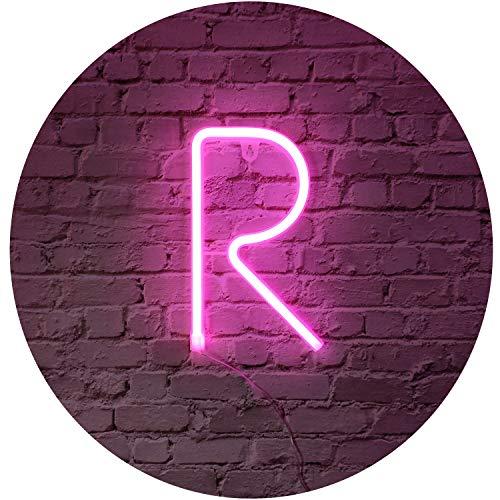 Rosa Segni di lettera al neon luce di notte LED Marquee lettere al neon arte luci decorative decorazione della parete per i bambini Baby Room decorazione della festa nuziale di Natale (R)
