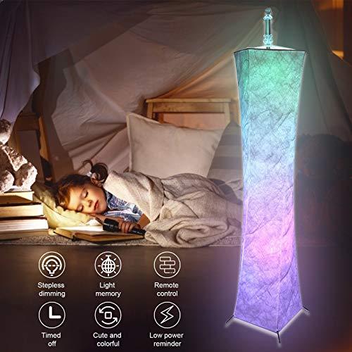 S SMAUTOP Lampada da Terra a Colori, Monocromatico e Modalità Dissolvenza Moderna Lampada da Terra, Luminosità e Temperatura Colore Regolabili, Lampada da Terra per Camera da Letto, Soggiorno, Ufficio