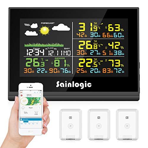 sainlogic FR0850 Wireless Professionale Stazione meteorologica Wi-Fi 10 in 1 WiFi con sensore Esterno, pluviometro, anemometro, previsioni Meteo, Display a Colori, Wunderground, Bianco 29