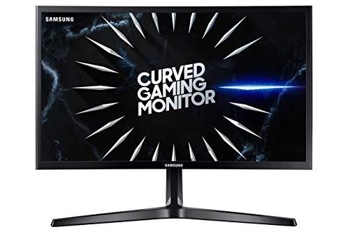 Samsung C24RG52FQU Monitor Gaming Curvo da 24 pollici, Full HD,1800R, 144 Hz, Freesync, 4 ms, Display port, 2 HDMI, Nero
