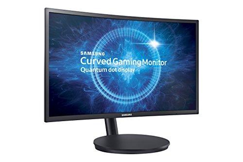"""Samsung Monitor C24FG70, Monitor Curvo VA da Gaming, 24"""" Full HD, 1920 x 1080, 144 Hz, 1 ms, FreeSync, DP, HDMI, 16.7M di Colori, sRGB 125%, Game Mode, Quantum Dot, Base Semplice, Nero"""