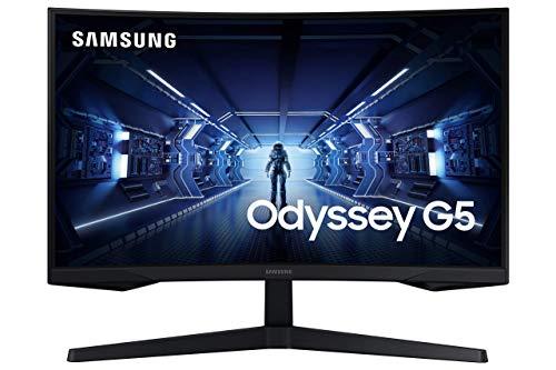 Samsung Monitor LC27G53TQWUXEN - Monitor Gaming Curvo da 27 Pollici G53, 144Hz, 1000R, 1 ms, AMD Freesync Premium, Nero