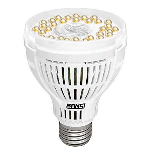 SANSI LampadaperPiante GrowLight E27, Lampadina LEDColtivazioneIndoor, LucePiante Spettro Completo 15W Nuovo per Piante da Interno Serra da Coltura Idroponica