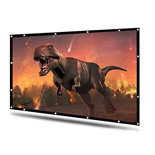 Schermo Proiettore 120 Pollici 16:9 Telo da Proiezione con 160° Angolo 3D HD1080 Portatile Lavabile Pieghevole per Esterno Ufficio Casa