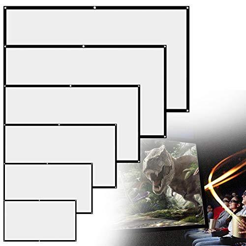 """Schermo Proiezione,16: 9 HD 4K Schermo da Proiettore Portatile Pieghevole Bianco Supporto per Angolo Visione 160 Gradi per Cinema Home Theater per Interni All'aperto (60""""-133cm(W) X 75CM(H))"""