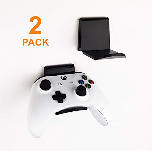 sciuU Supporto da Parete per Cuffie / Controller, [Set di 2] Gancio Adesivo 3M, Accessori Universali Appendi Cuffie per Gamepad di Xbox One, 360 / PS5 / PS4 / Nintendo, Senza Viti
