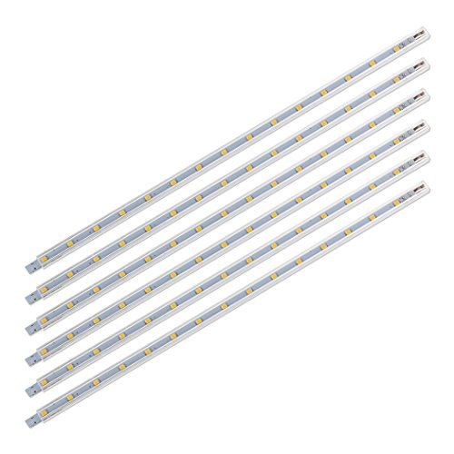 SEBSON® 6x LED Sottopensile con Interruttore e Prese, Luce Calda, 30cm, 2W, 170 Lumen, 12V, 8,8x6,7x300mm