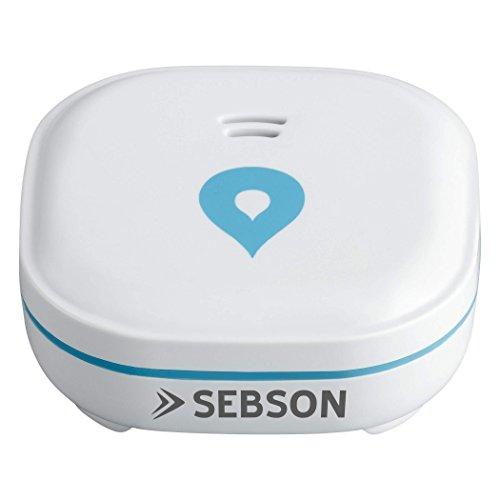 SEBSON Rivelatore d'acqua Mini 60x60x24.2mm, batteria lungo termine 10 anni, Sensore di allarme perdite di acqua, Anti Allagamento, senza fili, bianco