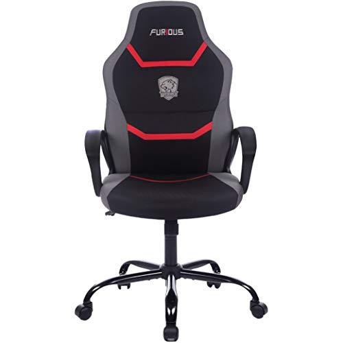 Sedia girevole da gaming e da ufficio con schiuma, con supporto lombare