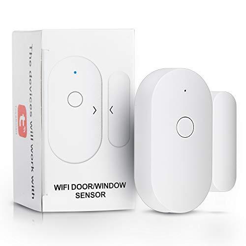 Sensore Smart WiFi per porta aperto/chiuso, interruttore magnetico per finestra senza fili, sensore di apertura per la casa di sicurezza Tuya APP Control notifica allarme sicurezza allarme