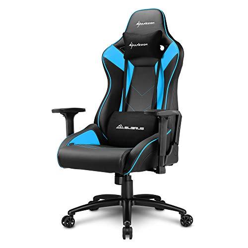 Sharkoon Elbrus 3, premium sedia gaming, similpelle, colore nero/blu