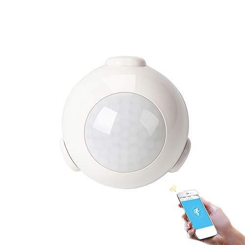 Sistema di allarme domestico con sensore di movimento WiFi PIR, mini sensore PIR Sensore a infrarossi compatibile con IOS e Android per TUYA/app smart life