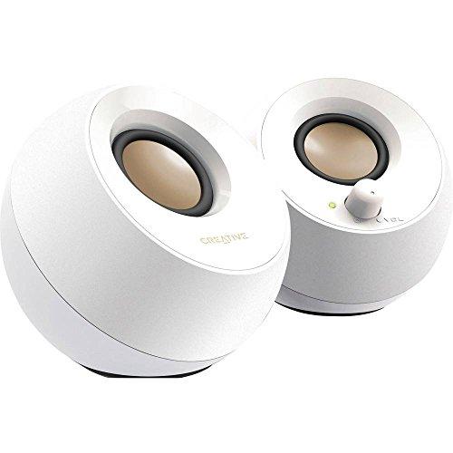 Sistema di altoparlanti desktop moderno Creative Pebble con alimentazione USB 2.0 (Bianco)