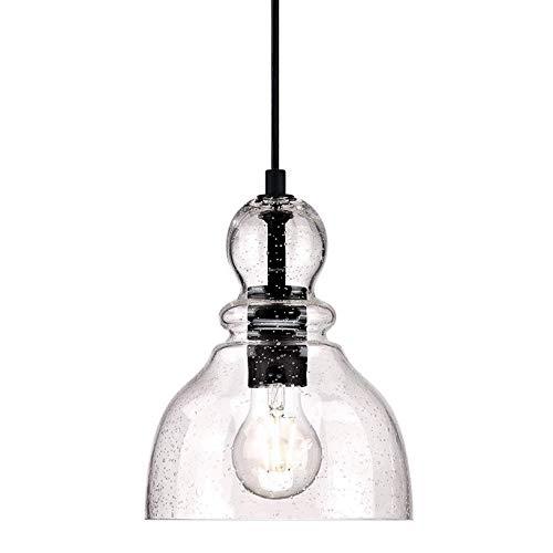 SISVIV Lampada a Sospensione in Vetro Vintage Industriale Lampadario Rustico per Cucina Sala da Pranzo Ristorante Bar Luce Pendente E27 Edison