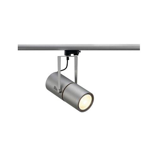 SLV, Faretto con ballast elettronico e adattatore trifase, 35 W, 60°, Argento (silbergrau)