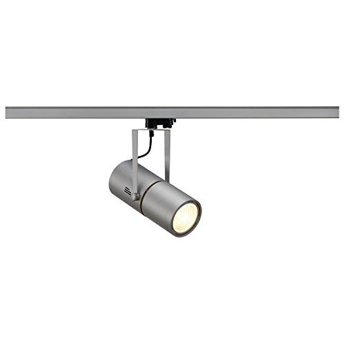 SLV, Faretto con ballast elettronico e adattatore trifase, 70 W, 15°, Argento (silbergrau)