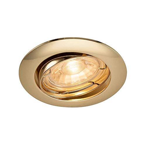 SLV Pika plafoniera lampada da incasso, alluminio, ottone lucido