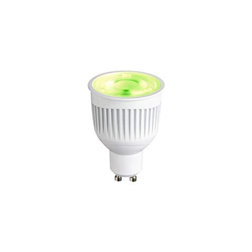 SLV PLAY - Lampadina LED Smartes Wifi, multicolore, dimmerabile, GU10, 16 milioni di colori (RGBW), 6,6 W sostituisce 40 Watt, senza hub compatibile con WLAN, Alexa e Google Home, 450 lumen